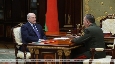 Lukashenko discusses conception of Belarus-Russia army exercise Zapad 2021